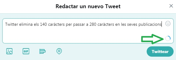 Twitter 280 caràcters